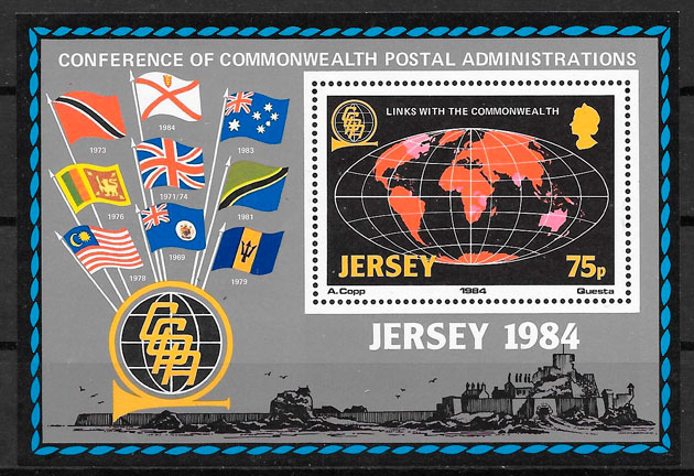 sellos temas varios 1983 Jersey