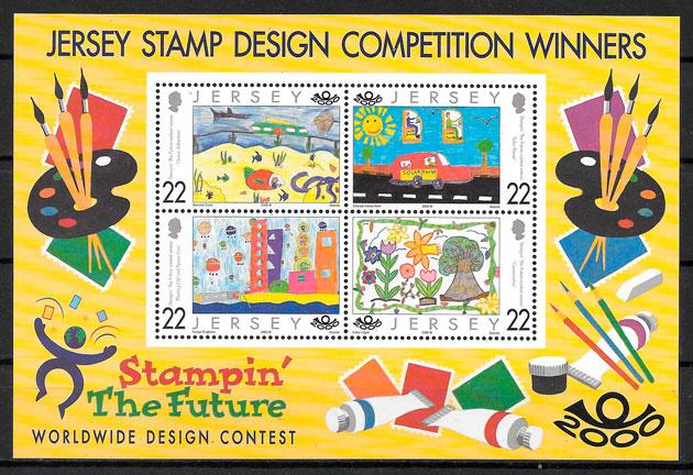 sellos varios Jersey 2000