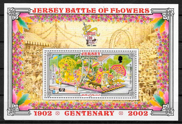 filatelia temas varios Jersey 2002