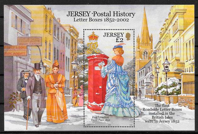colección sellos temas varios jERSEY 2002