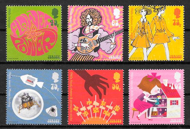 sellos temas varios JERSEY 2018