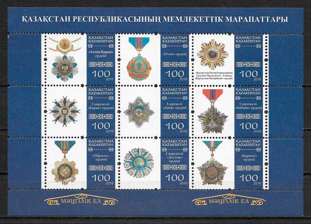 sellos temas varios Kazastán 2016