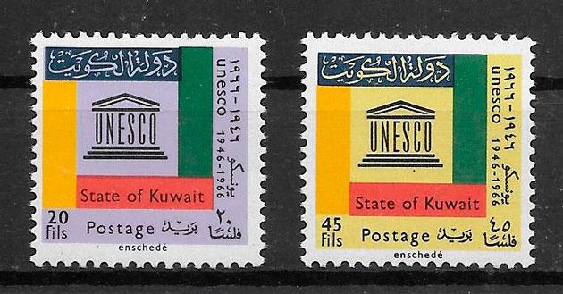sellos temas varios Kuwuai 1963