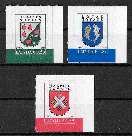 sellos temas varios Letonia 2017
