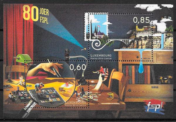 sellos temas varios Luxemburgo 2014