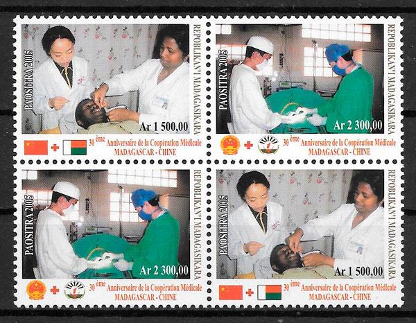 sellos temas varios Madagascar 2005