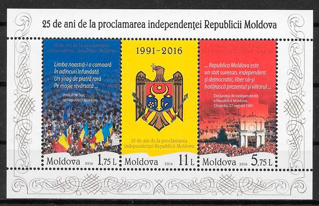 filatelia temas varios Moldavia 2016