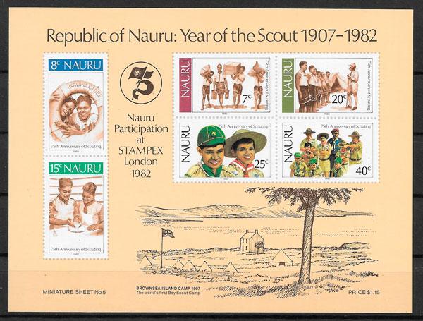 filatelia colección temas varios Nauru