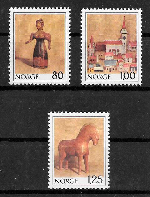 colección sellos temas varios Noruega 1978