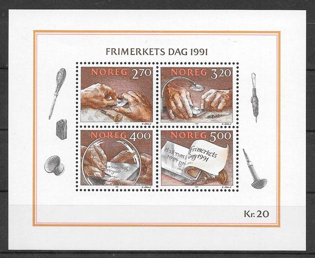 filatelia temas varios Noruega 1991