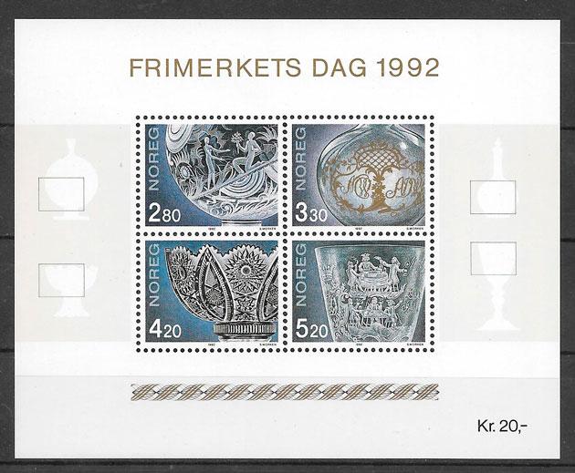 filatelia temas varios Noruega 1992