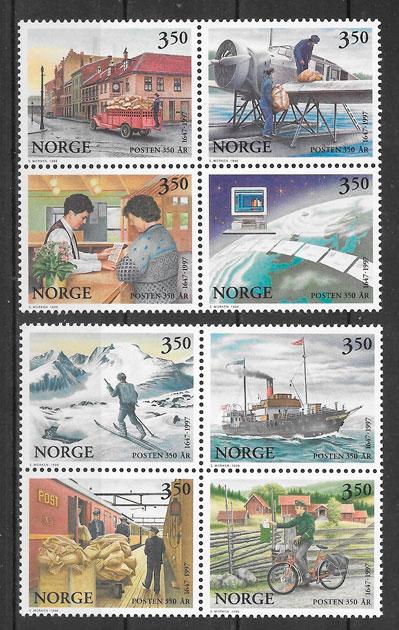 filatelia temas varios Noruega 1996
