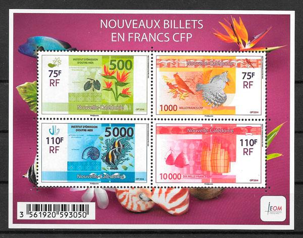 sellos temas varios Nueva Caledonia 2014