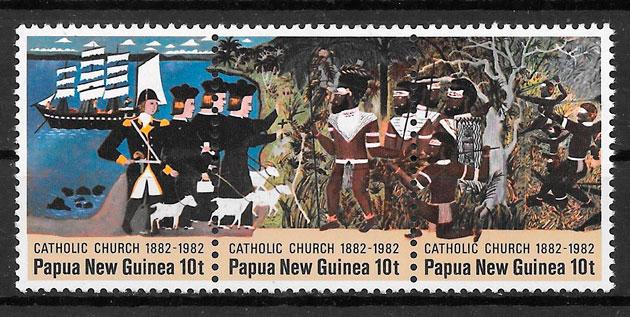 coleción sellos temas varios Papua y Nueva Guinea 1982