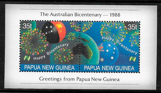 filatelia temas varios Papua Nueva Guinea 1988