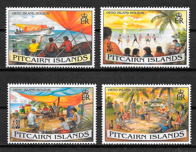 colección sellos temas vario Pitcairin Islands