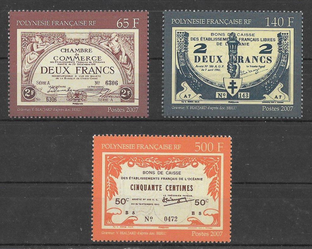 sellos temas varios Polinesia 2007