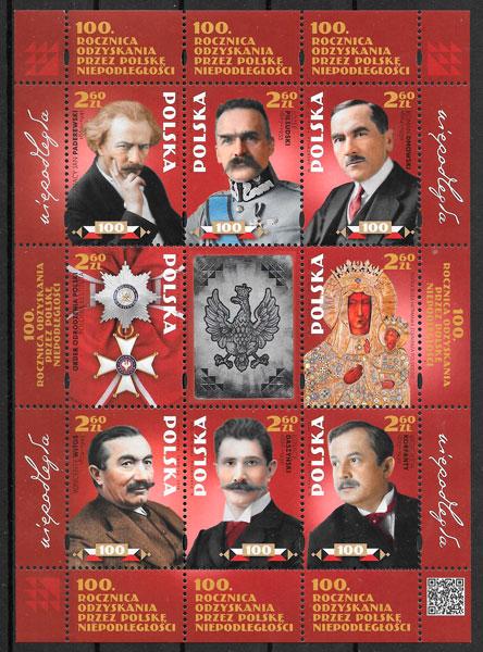 colección sellos temas varios Polonia 2018