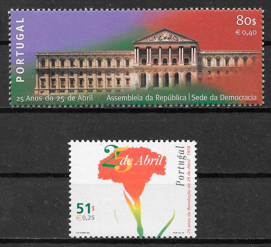 colección sellos temas varios Portugal 1999