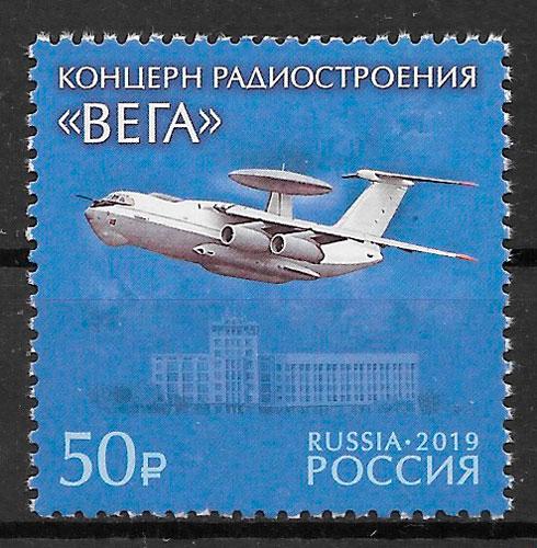 filatelia transporte Rusia 2019