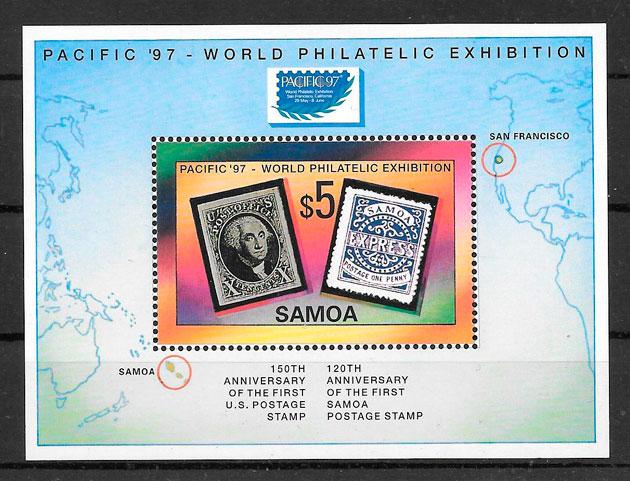 sellos temas varios Samoa 1997