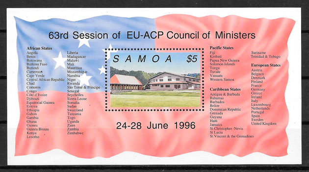sellos temas varios Samoa 1996