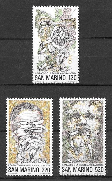 colección sellos temas varios San Marino 1980