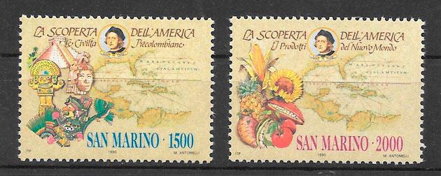 filatelia temas varios San Marino 1991