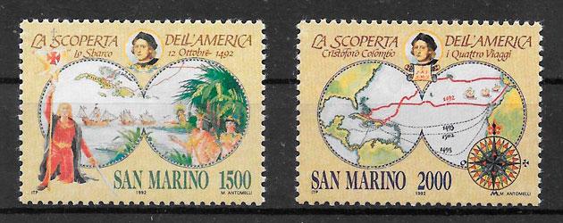 filatelia colección temas varios San Marino 1992