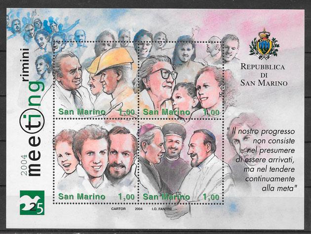 colección sellos temas varios San Marino 2004