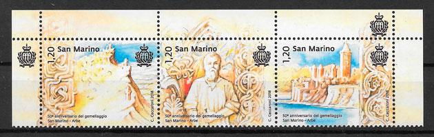 filatelia colección temas varios San Marino 2018