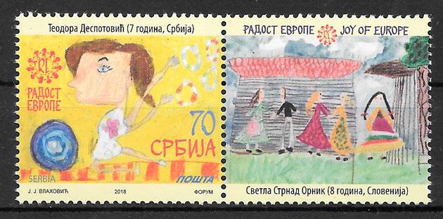 filatelia temas varios Serbia 2018