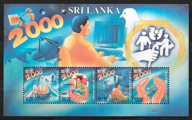sellos temas varios Sri Lanka 2000