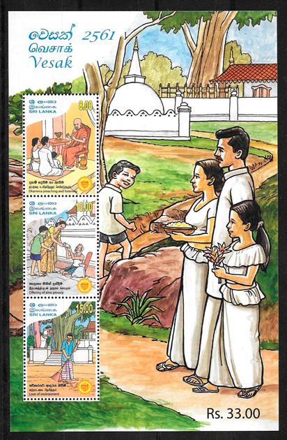 filatelia temas varios Sri Lanka 2017