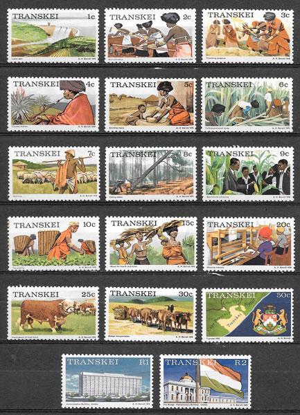 sellos temas varios Transkei 1975