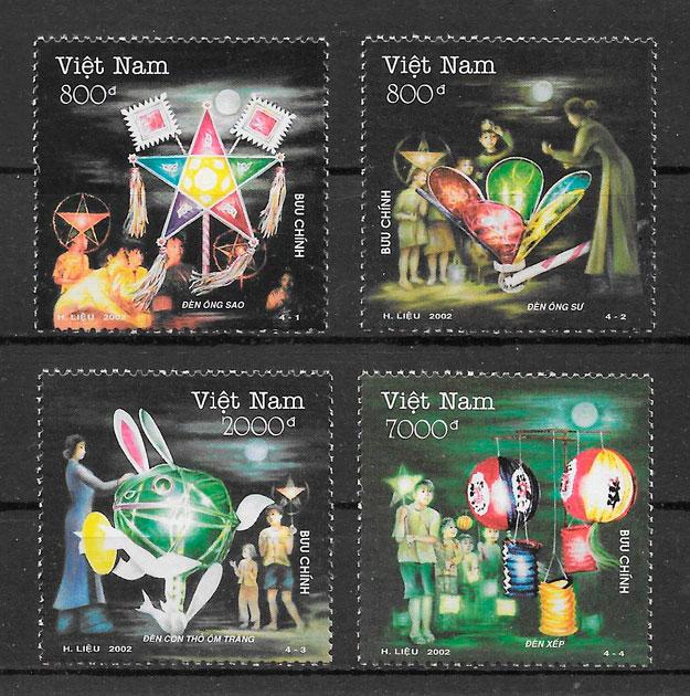 colección sellos temas varios Viet Nam 2002