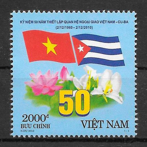 filatelia temas varios Viet Nam 2010