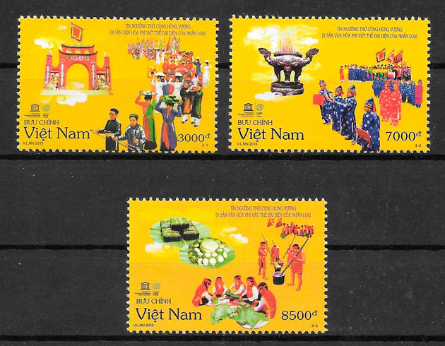 filatelia colección temas varios Viet Nam 2015