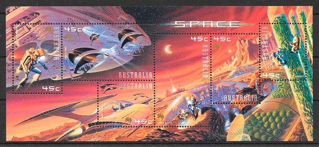 sellos espacio Australia 2000