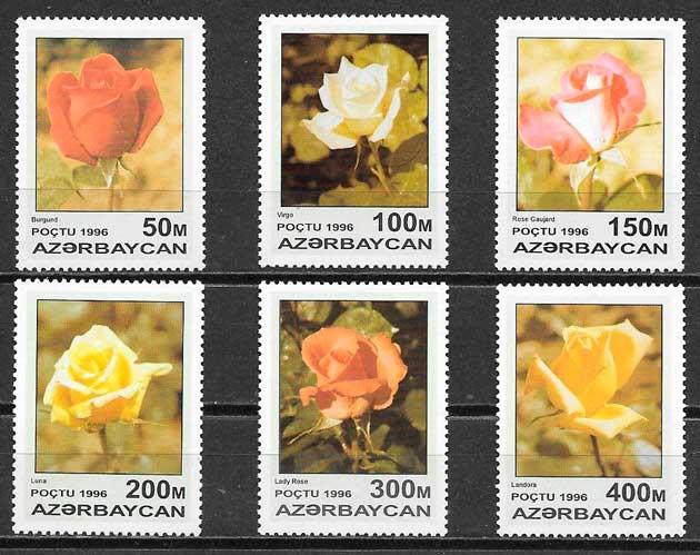 sellos rosas Azerbaiyan 1996