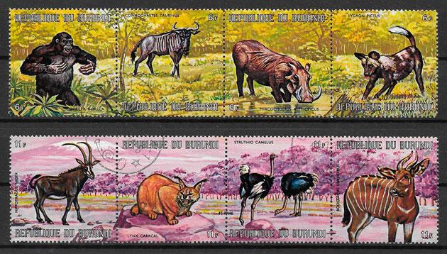 sellos fauna Burundi 1971