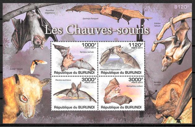 filatelia colección Burundi 2011
