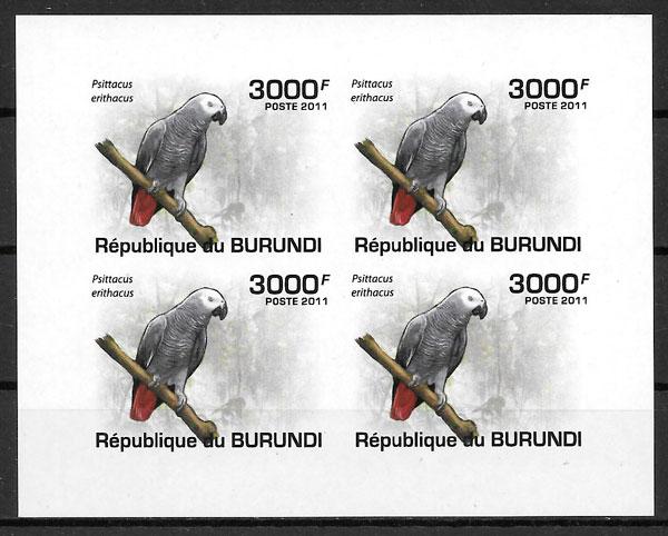 colección selos fauna Burundi 2011