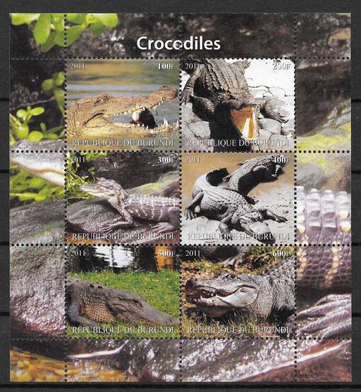 colección sellos fauna Burundi 2011