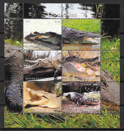 sellos fauna Burundi 2011