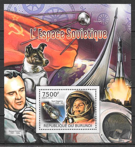 sellos espacio Burundi 2012