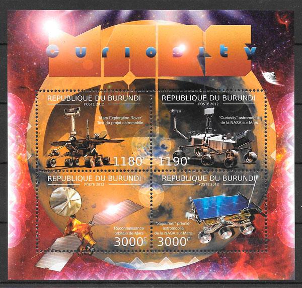 filatelia colección espacio Burundi 2012