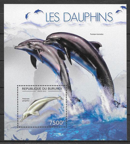 colección sellos fauna Burundi 2012