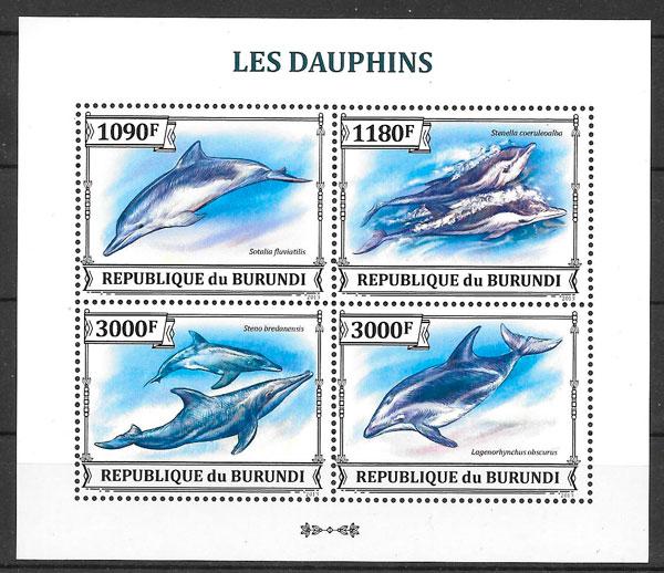 sellos fauna Burundi 2013