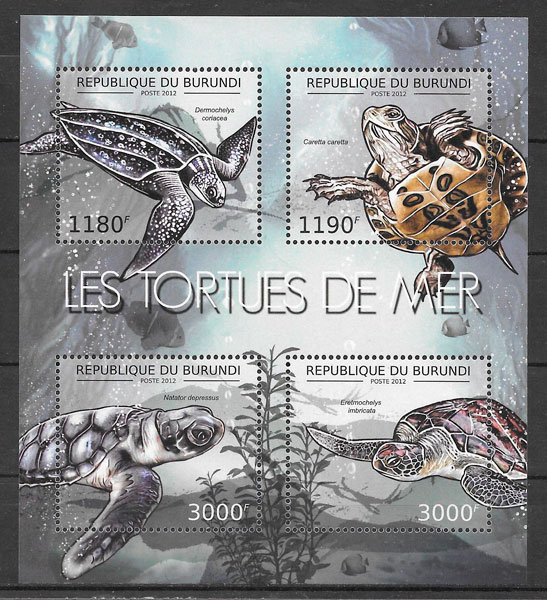 sellos fauna Burindi 2012